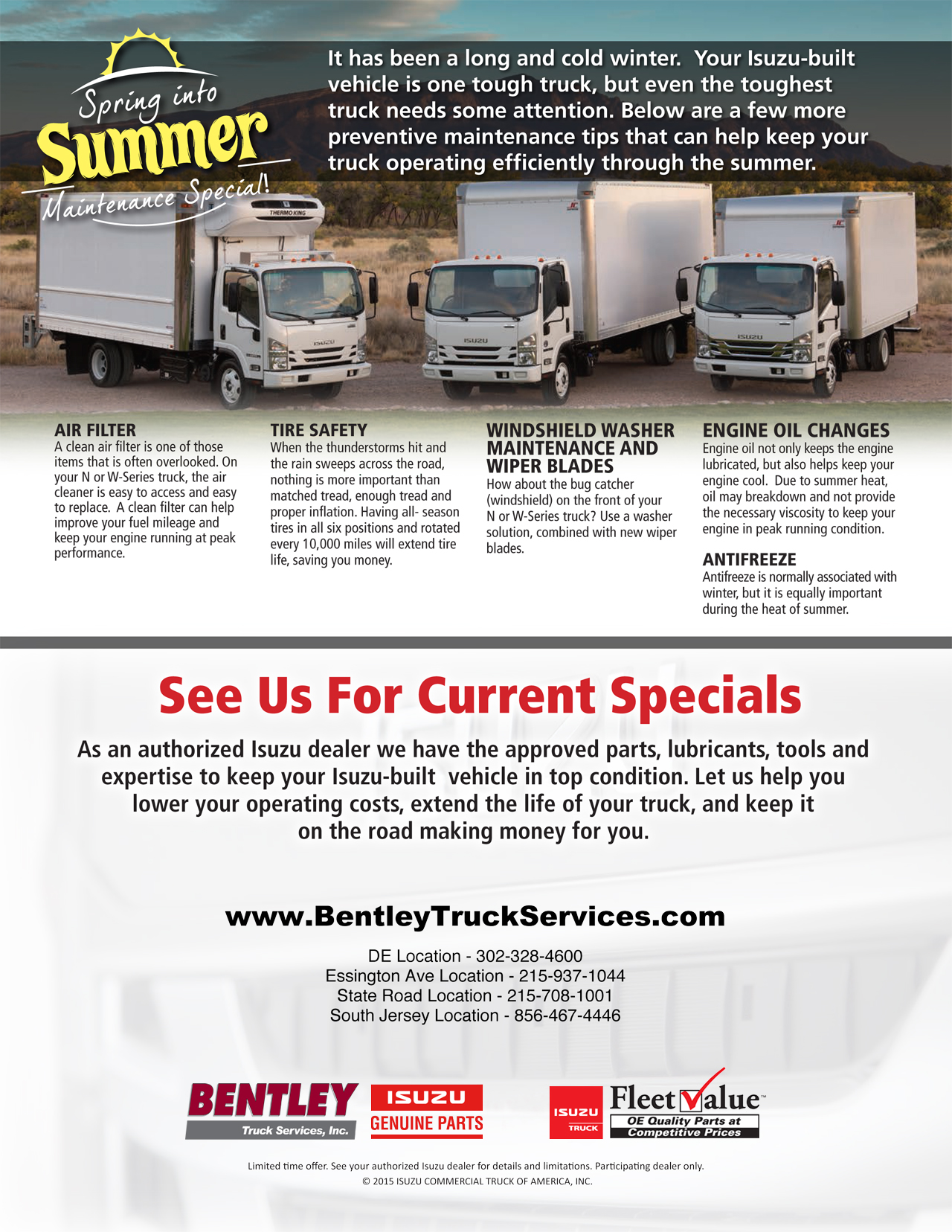 Huge Savings On Commercial Truck Parts And Service For Your Isuzu Truck